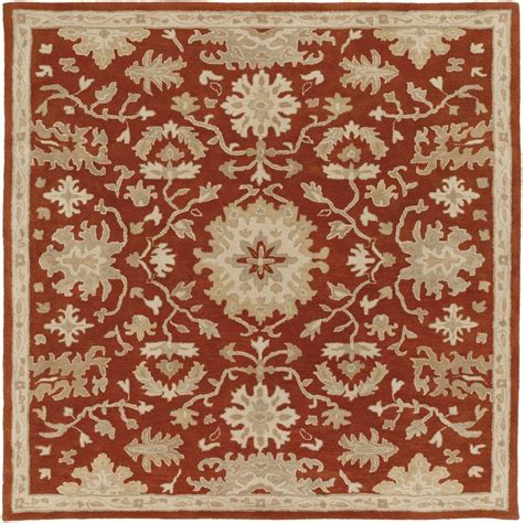 4 foot square rug artistic weavers gilgamesh burgundy 4 ft x 4 ft square indoor area rug s00151007600 the home