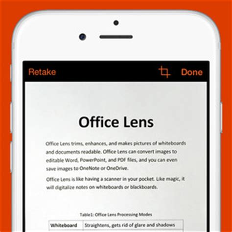 microsoft's office lens app turns your iphone or android