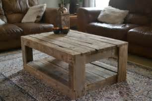 Rustic Coffee Table Diy Rustic Table Made With Palletsdiy Pallet Furniture Diy Pallet Furniture