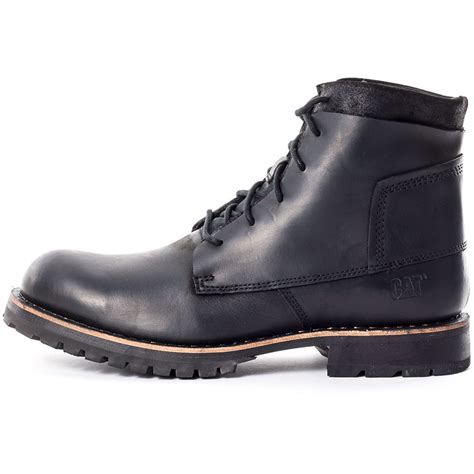 mens black caterpillar boots caterpillar lenox mens ankle boots in black