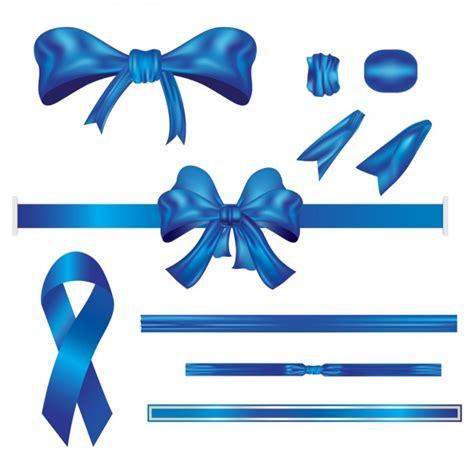 Ribbon Blue blue ribbon set vector free