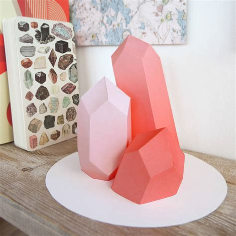 Origami Rock - origami template gem rock by bonnie and bell