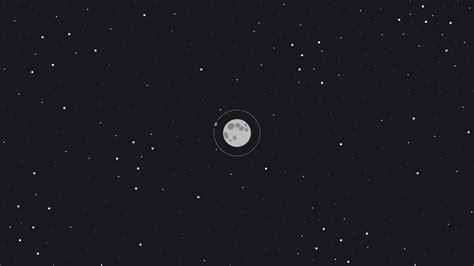 moon space minimal full hd wallpaper