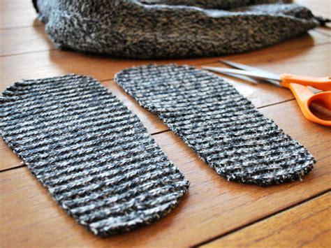 diy sock booties diy sweater slipper socks ecouterre