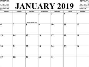 January 2019 Calendar Printable January 2019 Calendar 3 For Free Formxls