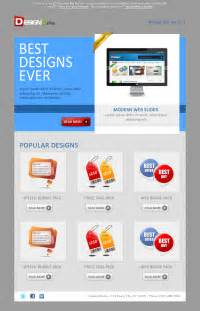 how to design an email template sleek email template design design3edge