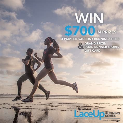 Road Runner Sports Gift Card - instagram contest laceup running serieslexus laceup running series