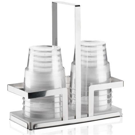 porta bicchieri portabicchieri in acciaio lucido 19x95xh20 cm