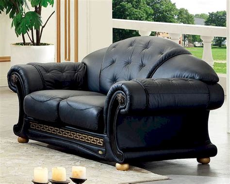 Versace Style Sofa by Black Loveseat In Classic Style Versace Esfvel