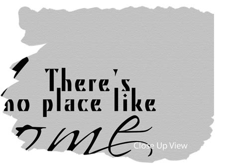 theres no place like home grey text quotes wide panel