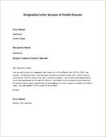 Resignation Letter Sle Reason Health Resignation Letter To Take An Early Retirement Writeletter2