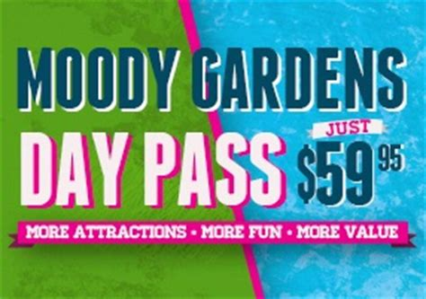 Moody Gardens Discount Tickets moody gardens ticket information special discount coupons handicap accessible info