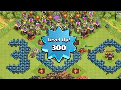 clash of clans max levels highest max level 300 player capped exp mission