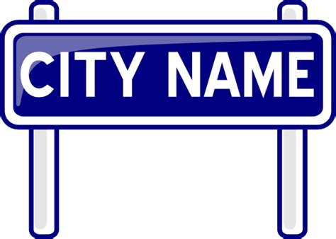 city plates city name plate road sign post clip at clker