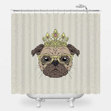 pug shower curtain shop pug shower curtain on wanelo
