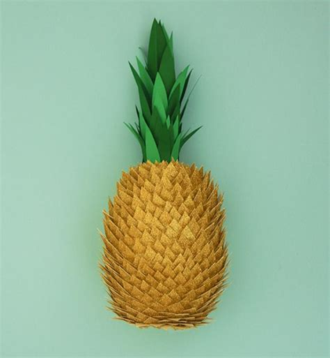 Paper Pineapple Craft - paper pineapple pineapples are forever