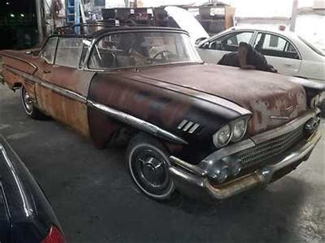 sell used rare all original 1958 chevy impala convertible