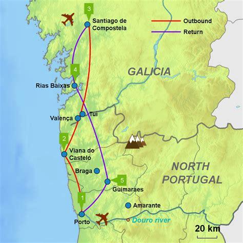 camino portugues porto santiago caminos touring holidays in spain