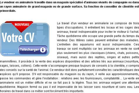 Vendeur Animalerie Lettre Motivation Mod 232 Le Et Exemple De Lettre De Motivation Vendeur En