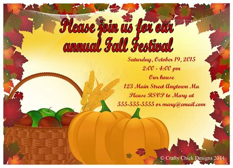 Fall Party Invitations Party Invitations Templates Fall Festival Invitation Templates