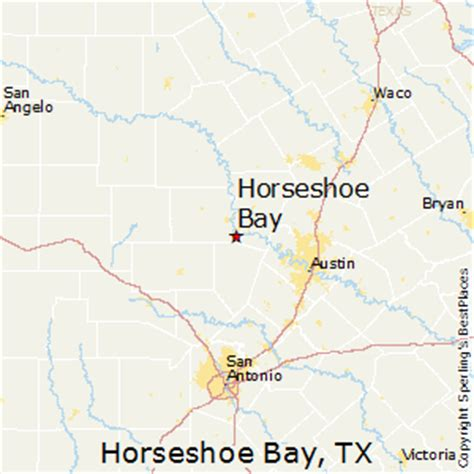 map of horseshoe bay texas best places to live in horseshoe bay texas