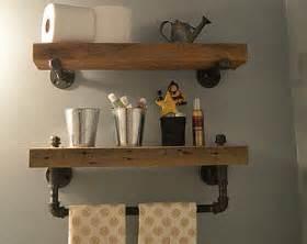 wood bathroom shelves barn wood etsy