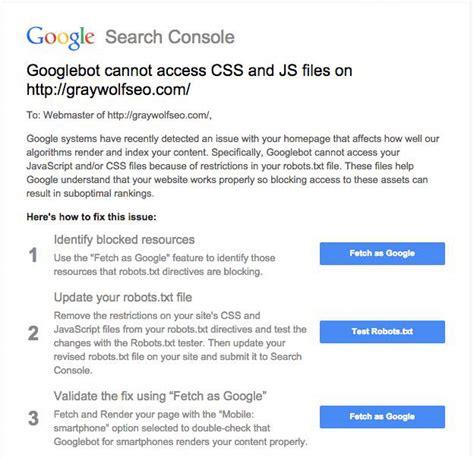 google images javascript google warning googlebot cannot access css js javascript