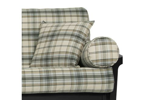 plaid futon cover fern denim plaid futon cover buy from manufacturer and save