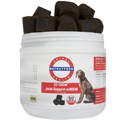 msm for dogs ez chew joint support with msm for dogs 50 soft chews healthypets