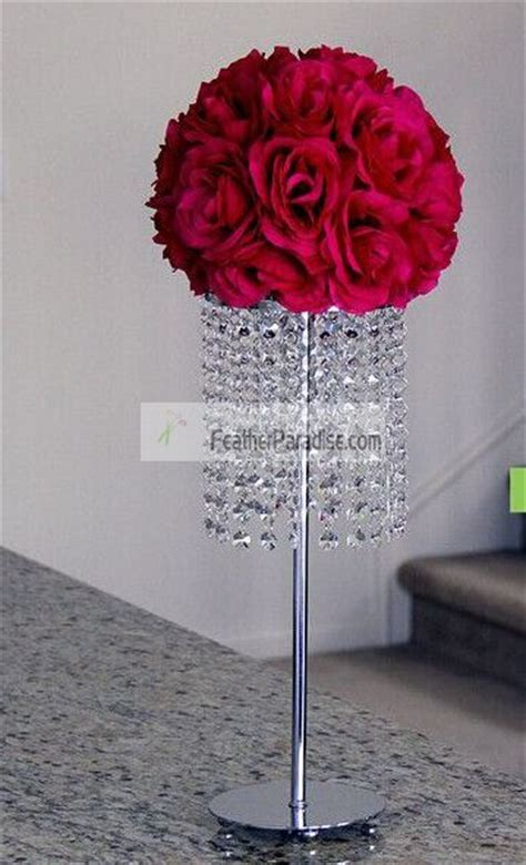 Floral Foam Holder For Tower Vases Feather Ball Centerpieces Wholesale Flower Stands Wedding