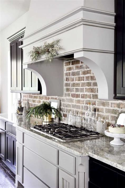 brick tiles for backsplash in kitchen ideas and