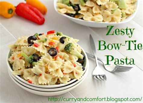 kitchen simmer zesty bow tie pasta salad