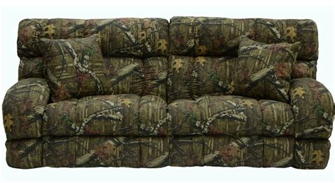 appalachian power lay flat reclining sofa in mossy oak or