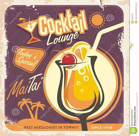 vintage cocktail posters retro poster design for one of the most popular cocktails