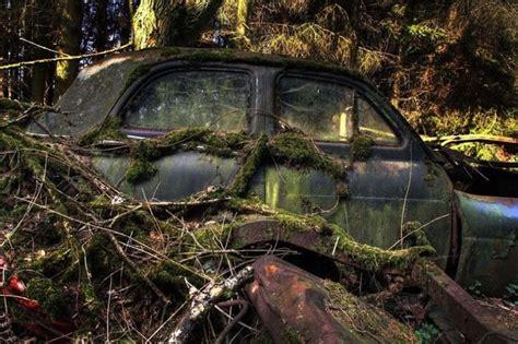 dans une for 234 t belge un myst 233 rieux cimeti 232 re de voitures