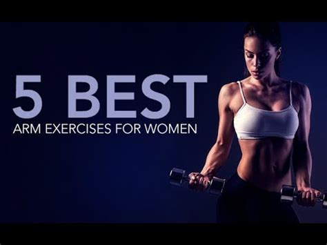 5 best arms exercises for women (shoulders, biceps