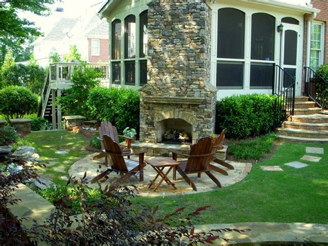 Foundation For Outdoor Fireplace by Outdoor Fireplace Landscape Traditional With Adirondack Chairs Fireplace Foundation