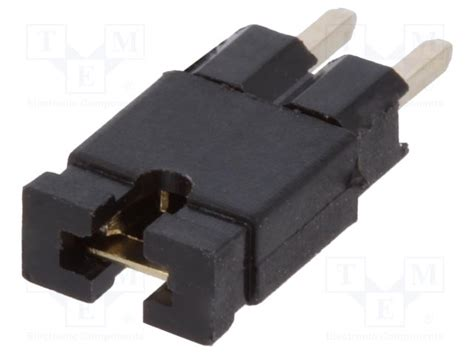2pin Jumper 01 254mm ds1027 01 2ab801 connfly pin header jumper tme electronic components