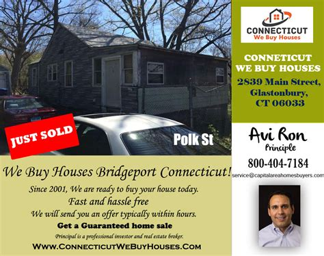 we buy houses ct we just sold property located in polk st connecticut we buy houses