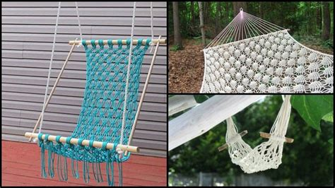 How To Make Your Own Hammock Chair by How To Make A Crocheted Hammock