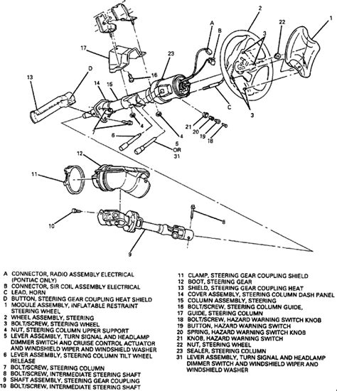 2001 steering column diagram chevy truck steering column