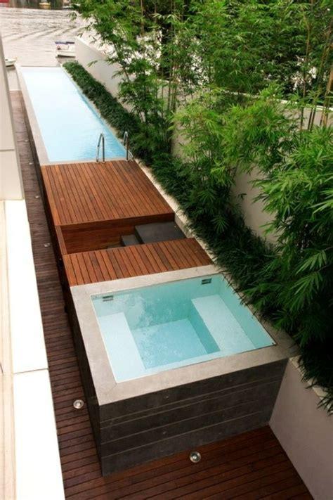 mini pools mini pool garten minimalistisch modern badewanne garten