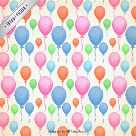 Watercolor Pattern Vector | watercolor colour balloons pattern vector free download