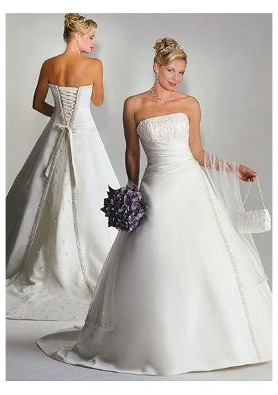 ideas on strapless a line wedding gowns