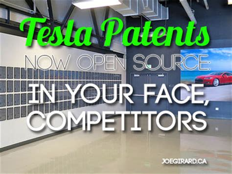 tesla patents now open source in your competitors