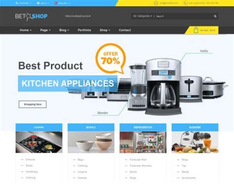 Vina Betashop Kitchen Appliances Virtuemart Template Kitchen Appliances Templates