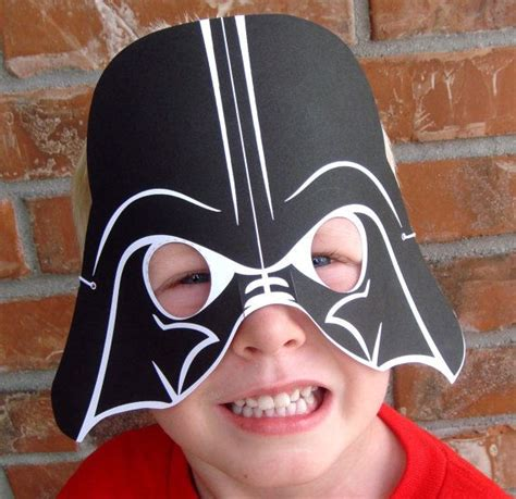 printable vader mask star wars party printable mask collection craft project