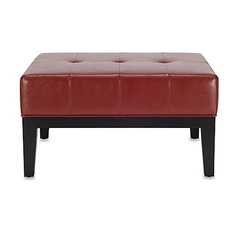 Small Square Ottoman Safavieh Hudson Leather Fulton Small Square Cocktail Ottoman In Www Bedbathandbeyond