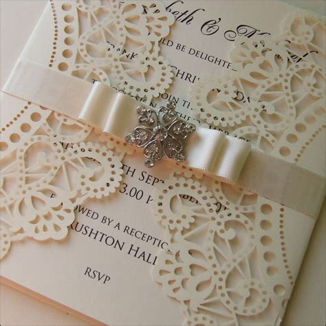 Wedding Invitation Card by Laser Cut Wedding Invitations Letterpress Invitations