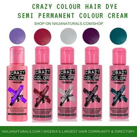 semi perm hair color vs foil crazy colour semi permanent hair dye naija naturals